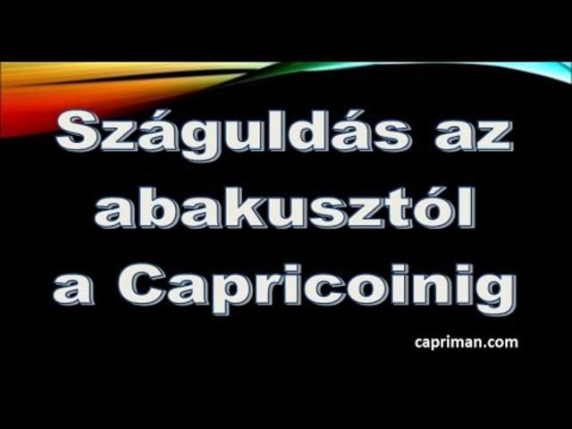 Száguldás az abakusztól a Capricoinig