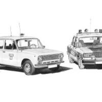 Lada VAZ 21011-2107 Taxi-Rendőrség duó