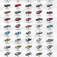 Le Mans győztes autói egy képen