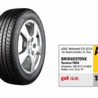 A Bridgestone Turanza T005 abroncsa lett a legjobb az ADAC 2019. évi nyárigumi tesztjén