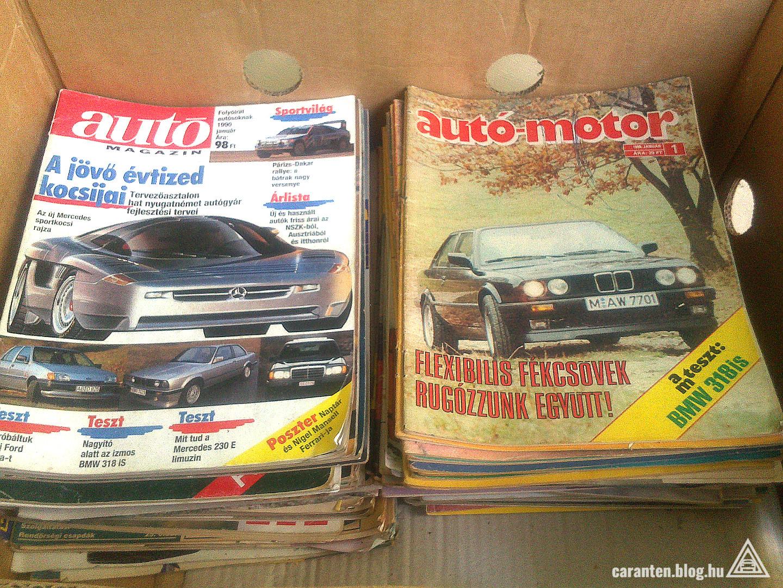 A javát örököltem. A jobb oldal végig Autó-Motor, a bal oldalon van Autó Magazin, Autó k2ttő és Piac. Az alján még akad pár Motor Revü is.
