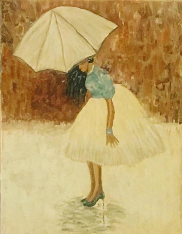 Tűsarkú - Akril, vászon 60x40 cm