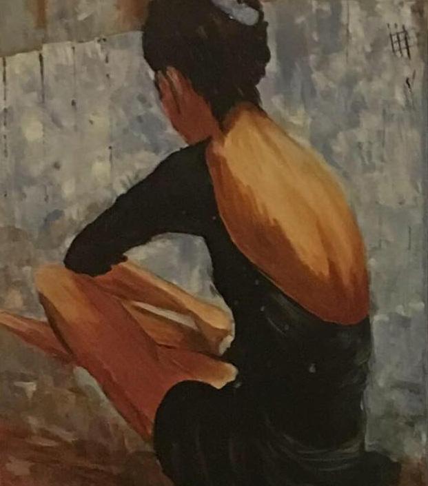 Balerina - Akril, vászon 50x50 cm