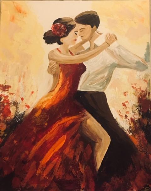 Argentin tangó - Akril, vászon 40x60 cm