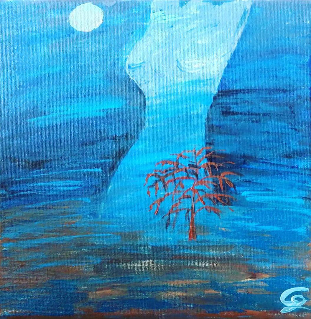 Hajnal - Balaton - Akril, vászon 60x60 cm