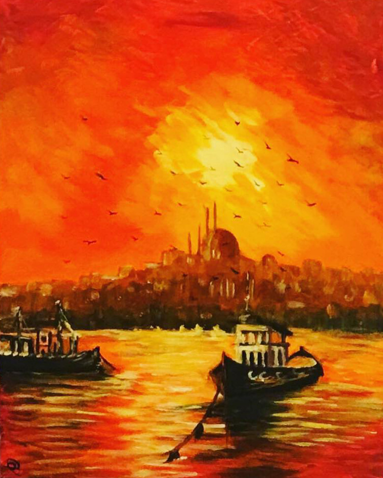 Velence II. - Balaton - Akril, vászon 40x60 cm