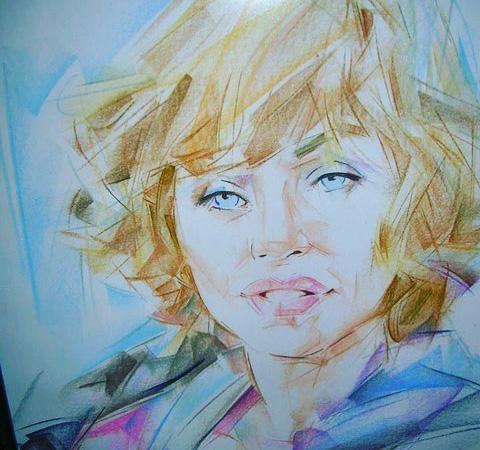 Carla - Balaton - Akril, vászon 40x30 cm