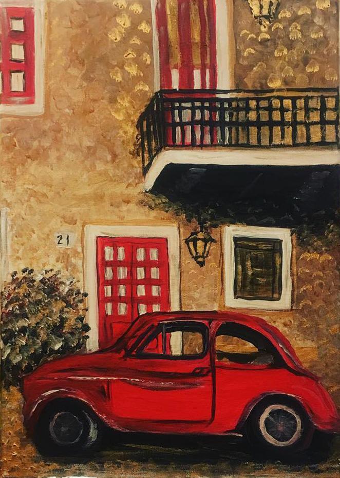 Róma - Balaton - Akril, vászon 40x60 cm