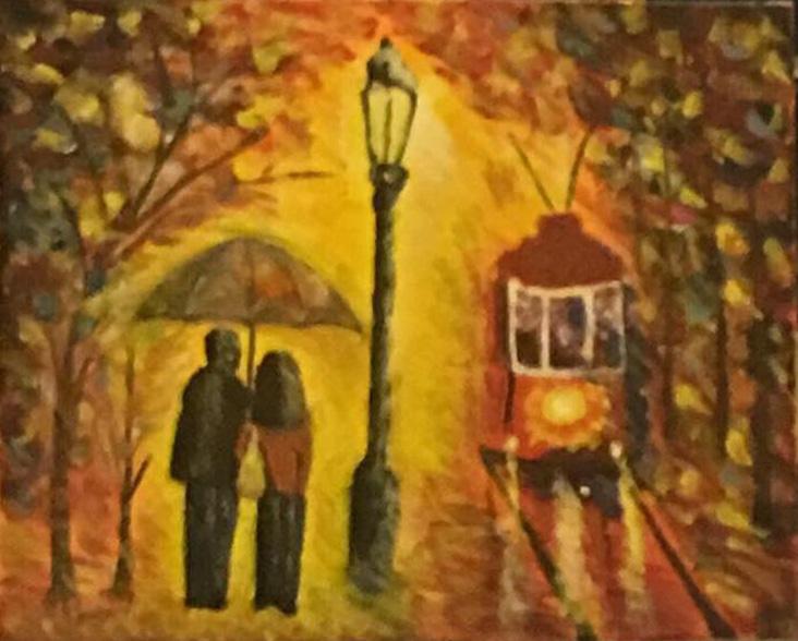 Buda -Balaton - Akril, vászon 60x40 cm