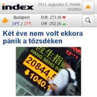 Elérhető az Index első alkalmazása