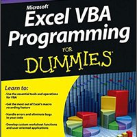 Excel VBA Programming For Dummies Download