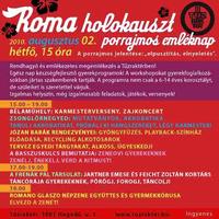 Roma holokauszt - rendhagyó emléknap a Tűzraktérben.