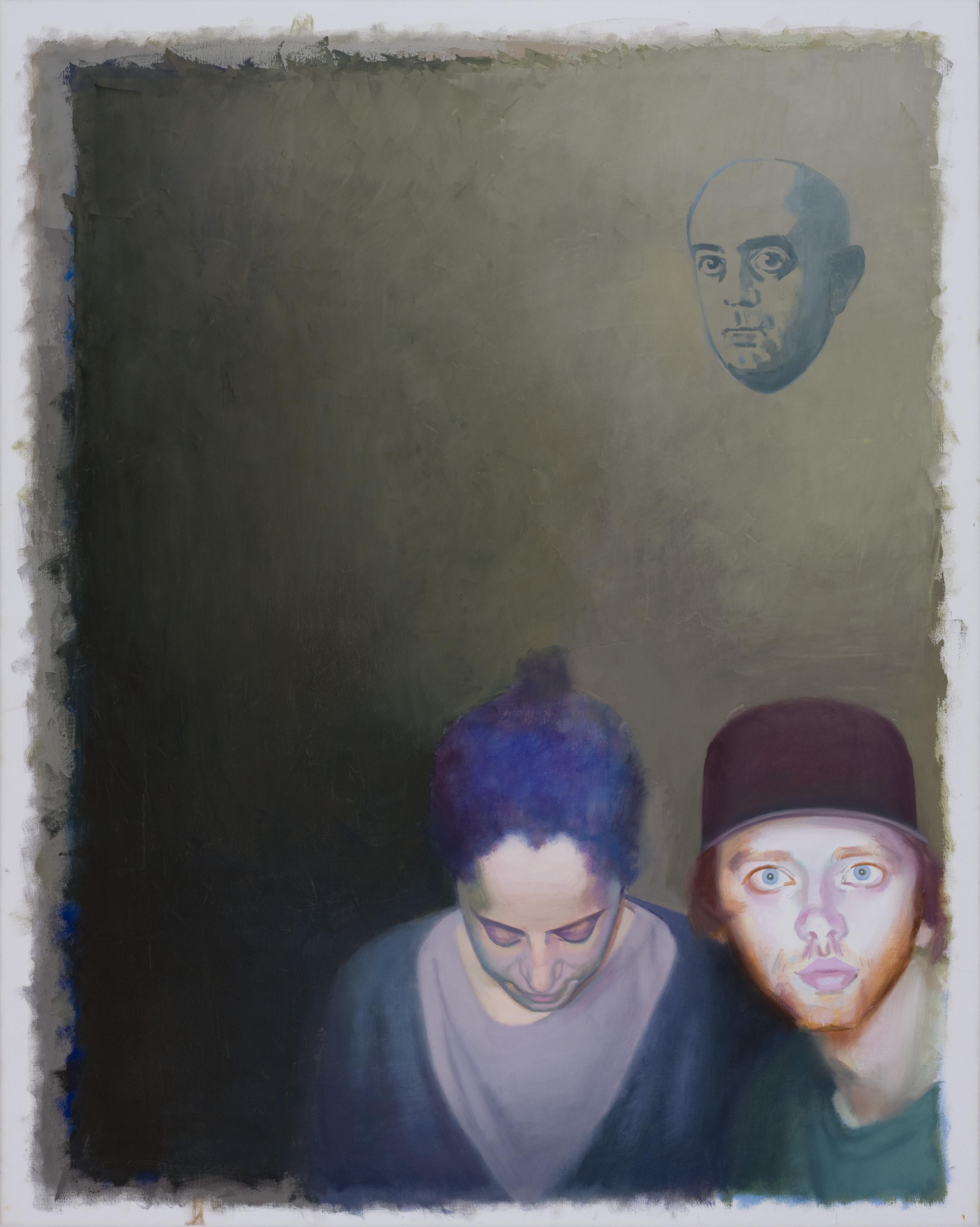 Vater und Mutter, 2013, olaj, vászon, 100x80 cm
