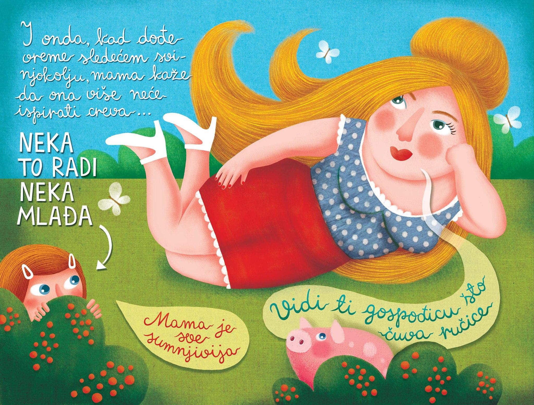 O, a ribiszke! c kisprozamnak kepregenyes valtozata_Maja Veselinovic belgradi kepzomuvesz munkaja 4.jpg