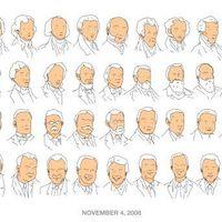 Enyhén rasszista, de annál viccesebb rajz az USA elnökeiről