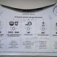 Fasz helyett csak egyszarvút rajzolt a szavazólapra