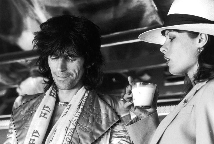 Kopia Uschi with Keith Richards, during the Rolling Stones' 1975 Tour of the Americas Photo courtesy of Christopher Simon Sykes.jpg