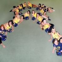 Az ELTE Cheerleaderek  mellrák megelőzése kampány képei