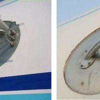 Bizonyíték #2: Furcsa csövek a repülőgép oldalán