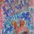 Pancsoló kislány(ok) ~ art journal oldalban