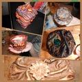 Kollázs paverpolos textildekorációs alkotásokból: tanítványaim munkái...