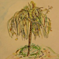 Lombhullató csöpp őszi fa