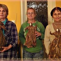 Három grácia, azaz paverpolos textilszobrászat