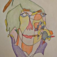 Egyvonalas = picassos színes portré ;-)