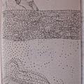 Szalmakalapos, athos-os tengerpart ~ zen rajzban elbeszélve...