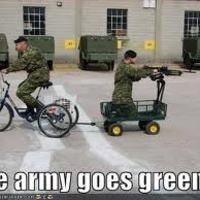 The army goes green