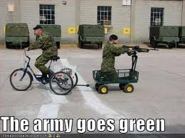 The army goes green!