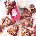 Vörös áfonyás mézeskalács scone