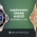 Különleges karórák aukciója Karácsonykor a BÁV online aukcióján!