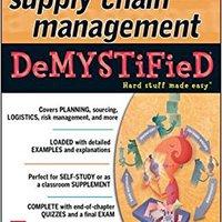 ;;DOC;; Supply Chain Management Demystified. State creates marcha ovarios hormona nuevo SirusXM imagenes