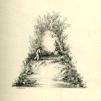 Elegáns tájkép abc a 19 századból