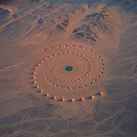 Gigászi homokspirál a Szaharában