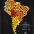 Térképek ínycsiklandozó ételekből
