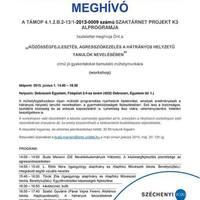 Műhelyfoglalkozás a Debreceni Egyetemen