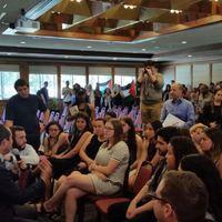 Egyetemi intifáda San Franciscóban: náci karlendítéssel fogadták a jeruzsálemi polgármestert