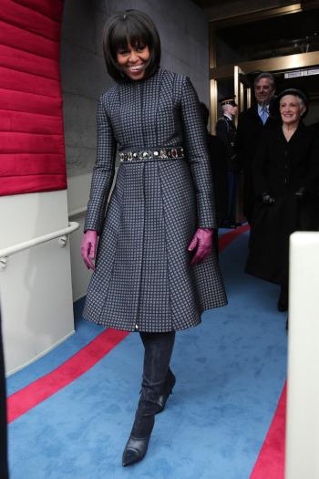 Michelle Obama férje második beikatásán Reed Karkoff csizmában