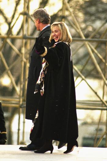 Hillary és Bill Clinton 1993-ban a beiktatás előtt