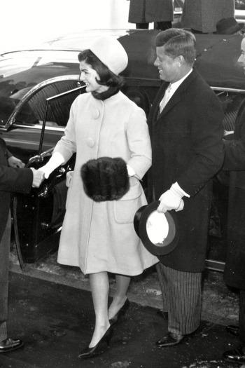 Jackie és John F. Kennedy a beiktatáson