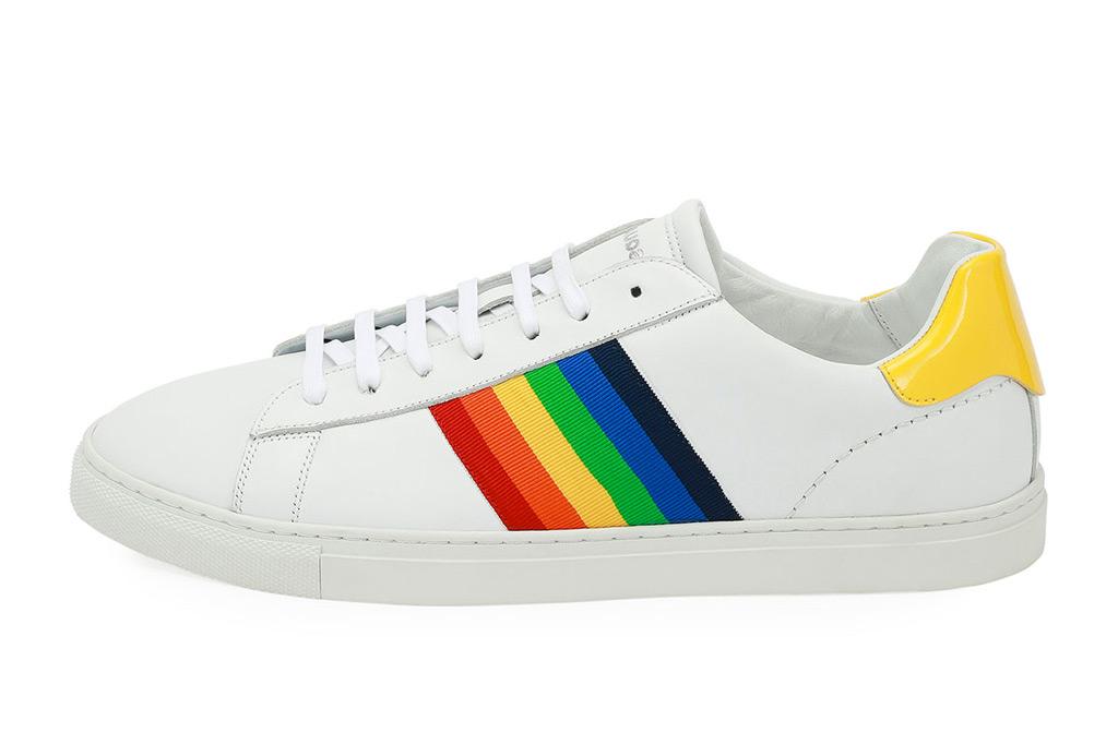 Dsquared2 Rainbow-stripe Low-Top Sneaker