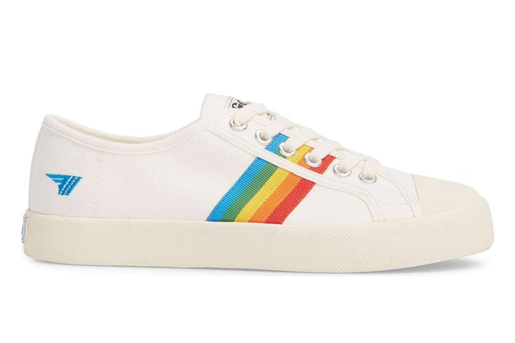 Gola Coaster Rainbow Striped Sneaker; $65