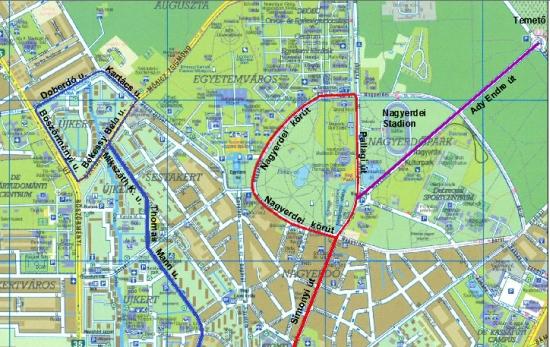 debrecen villamosvonal térkép 3 as villamos Debrecenben?   PTinfo debrecen villamosvonal térkép