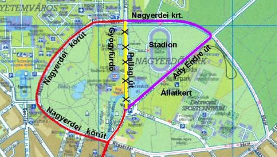 debrecen villamosvonal térkép Gyógyfürdő mellé nem passzol a villamos   PTinfo debrecen villamosvonal térkép