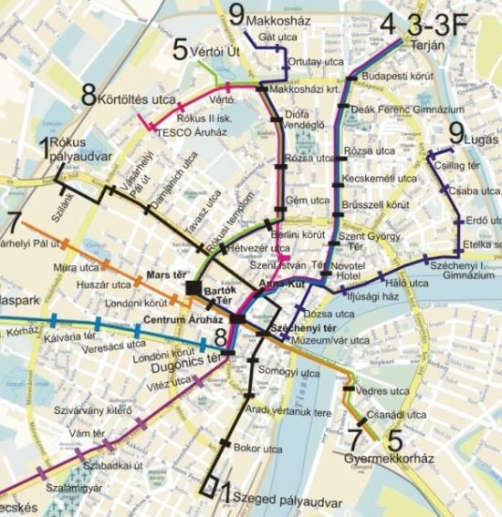 szeged tömegközlekedés térkép Leszólták a szegedi tömegközlekedési térképet   PTinfo szeged tömegközlekedés térkép