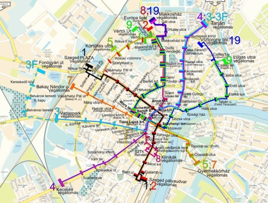 debrecen buszmegálló térkép Leszólták a szegedi tömegközlekedési térképet   PTinfo debrecen buszmegálló térkép