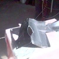 Műanyag elemek  javítása anyaghiányos törés esetén.