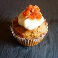 Répás muffin krémsajttal és kandírozott répával